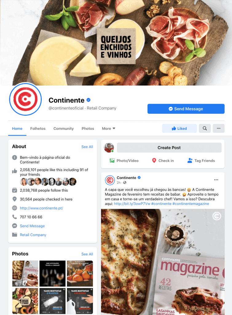 social media continent