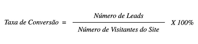 Taxa de conversão como se calcula a formula